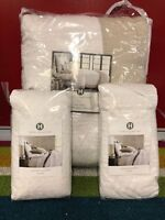Hotel Collection Voile Natural/White King Quilted Coverlet + 2 Standard Sham