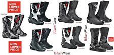 SIDI Boots - Black/White Men/Women Sports Touring Motorcycle Boot - Roarr fusion