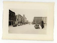 Street View Downtown Old Cars in CHEYENNE WY Vintage 1941 Wyoming Photo