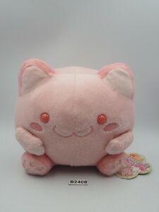 """Maruneko Club Cat B2408 Pink Plush Stuffed 5.5"""" TAG Toy Doll Sk Japan"""