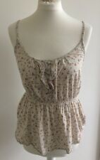 Jack Wills Ladies Fitted Summer Floral Strappy Top. S. 8.