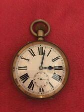 WORKING Vintage Antique Railway Half Hunter Guards Pocket Watch wind-up