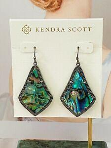 Kendra Scott black/green earrings