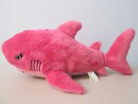 "Aurora Destination Nation Pink Shark Plush Stuffed Animal 16"""