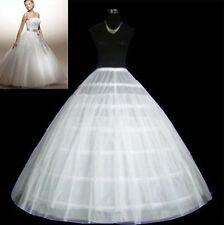 New 6-HOOP 2 layer White Petticoat Wedding Gown Crinoline Petticoat Skirt Slip