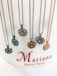 New Mariana Guardian Angel Side & Gem Stone Swarovski Crystal Women's Necklace