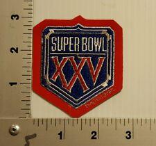 SUPERBOWL XXV GIANTS VS. BILLS NFL  VINTAGE EMBROIDERED PATCH