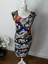Joseph Ribkoff dress multicoloured vibrant dress woven UK 14