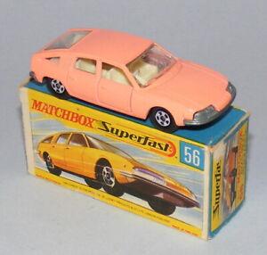 MATCHBOX SUPERFAST #56a BMC PININFARINA RARE SALMON PINK NEAR MINT BOXED