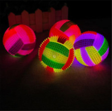 LED Volleyball Flashing Light Up Color Changing Bouncing Hedgehog Ball Dog Toy h
