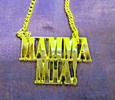 Mamma Mia! Gold Plated Long Chain Necklace -30ins - - J002
