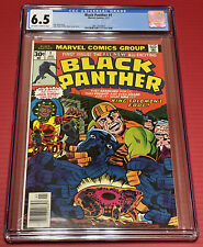 BLACK PANTHER #1 (1977 Marvel) CGC GRADED 6.5 OW WHITE PAGES JACK KIRBY🔑🔥🔥