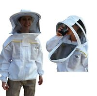 OZ ARMOUR BEEKEEPING BEE  JACKET  POLY COTTON VENTILATED WITH OPTIONAL GLOVES