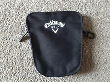 Callaway Golf Black 6 x 6.75 Zippered Valuables Pouch Caddie Tote Bag