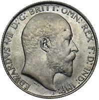 1910 FLORIN - EDWARD VII BRITISH SILVER COIN - V NICE