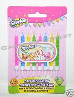 SHOPKINS CAKE DECORATION CANDLES 8 PK VELAS DE CUMPLEANOS CUPCAKE CAKE CANDLES