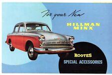 Hillman Minx Series III Accessories 1958-59 UK Market Foldout Sales Brochure