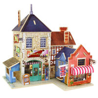 3D Jigsaw Puzzle Wood House Building Children Kids Educational Toy Best Gift!