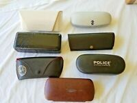 Lot of 7 Designer hard shell sunglass, Versaci, MK, Police, Izod, Ray Ban,