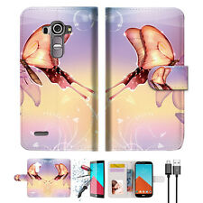 Dream Butterfly Wallet TPU Case Cover For LG G4-- A010