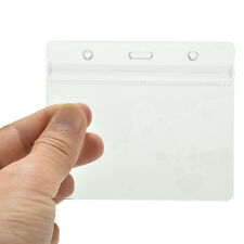 20X Clear Transparent PVC Plastic Pocket Wallet ID Card Pass Badge Holder Case G