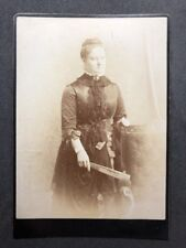 Victorian Cabinet Card: Grand Lady With Fan