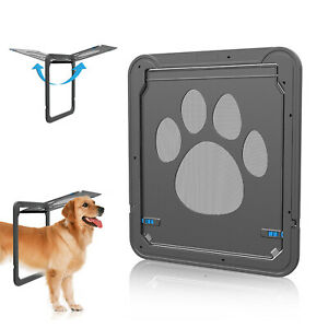 Magnetic Pet Flap Safe Sliding Screen Door Gate Automatic Lock for Small Dog Cat