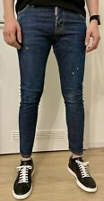 Dsquared2 Herren Jeans M.B. Jean Gr. 44, Blau, Ripped, raw washed, slim twisted