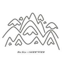 Stanzschablone Berg Hintergrund Oster Hochzeit Weihnachts Geburstag Karte Album