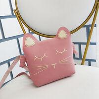 Delicate Cat Design Handbag Girl Shoulder Bag Children Coin Purse Crossbody Bag
