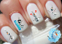 Olaf Nail Art Stickers Transfers Decals Set of 54