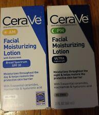 2 Cerave  Facial Moisturizing l AM +PM Lotions 2oz×2