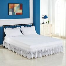 Lace Ruffled Solid Color Bed Skirt Loose Bed Apron Bed Skirt Queen Bed Skirt
