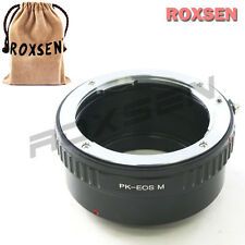 Roxsen Pentax K mount PK lens To Canon EOS M M2 EF-M mount Camera Adapter