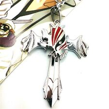 Anime Bleach Hollow Marks Silver Cross Wing Pendant Necklace Cosplay Gifts