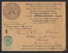 BELGIUM 1898 DIEST ADVERT COVER INSTITUT BELGE DE L'ART CHRETIEN TO ROME ITALY
