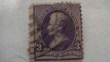 Purple Vintage USA Used 3 Cent Stamp