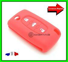 Étui Housse Protection Télécommande Clé Plip Peugeot  3 Boutons Coffre ROUGE