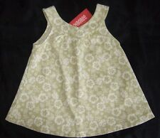 NWT ~ Gymboree BEACH SHACK green white floral knit swing tank top ~ girls 4 4T