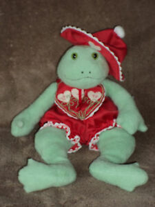 Hallmark Bunnies By The Bay Frog Lily Pond 10 Inch 2002