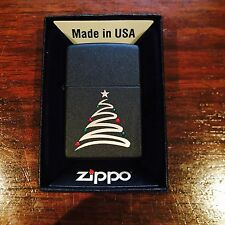 Zippo Lighter Swirl Christmas Tree 2004 Design