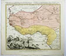 GUINEA-Afrika-Africa - Homann Erben 1743 Karte-Map
