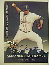 A.J. RAMOS signed RC METS MARLINS DODGERS 2010 GREENSBORO baseball card AUTO AJ