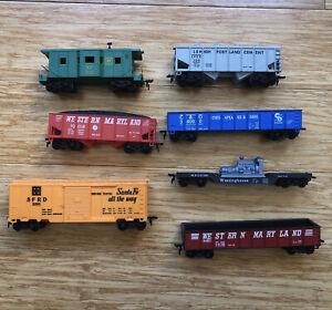 Vintage MARX Lot of 7 Train Cars O Scale