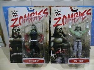 WWE MATTEL ZOMBIES EXCLUSIVE FIGURES - THE HARDY BOYS MATT & JEFF ZOMBIE ELITE
