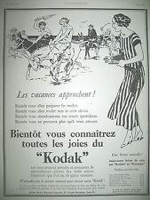 PUBLICITE DE PRESSE KODAK VACANCES COURSE DE MULES FRENCH AD 1924