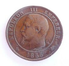 NAPOLEON III 10 centimes 1855 D   ancre