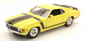 Model Car Scale 1:24 Ford MUSTANG Boss diecast vehicles Yellow collection