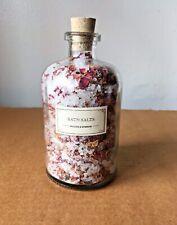 Mullein & Sparrow Rose Blossom Bath Saltsn18 oz Glass Jar New