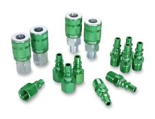 ColorConnex Coupler & Plug Kit for Airtool ARO Type B 1/4 inch NPT - 14Pcs Green